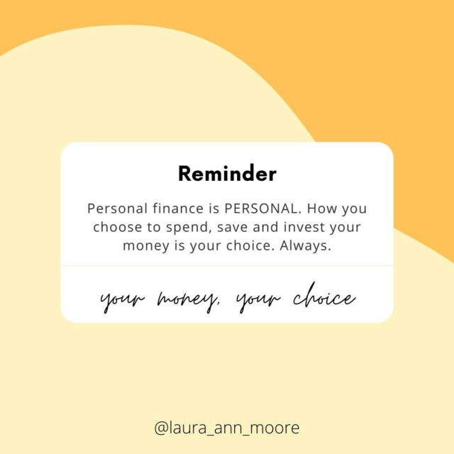 ✨ Happy Sunday you beautiful humans✨⠀⠀⠀⠀⠀⠀⠀⠀⠀ ⠀⠀⠀⠀⠀⠀⠀⠀⠀ Here is a little reminder that it is called personal finance for a reason - What you choose to do with your money is your choice!⠀⠀⠀⠀⠀⠀⠀⠀⠀ ⠀⠀⠀⠀⠀⠀⠀⠀⠀ You can spend it how you like 🛍 , you can save however you want 💰 and you can invest in whatever you choose📈...⠀⠀⠀⠀⠀⠀⠀⠀⠀ ⠀⠀⠀⠀⠀⠀⠀⠀⠀ This also means that you are the only one who is responsible for the consequences and outcomes of those choices⠀⠀⠀⠀⠀⠀⠀⠀⠀ ⠀⠀⠀⠀⠀⠀⠀⠀⠀ This is why creating financial goals are so important and helpful, because it kind of gives you a blueprint for how to handle your own money 🌟⠀⠀⠀⠀⠀⠀⠀⠀⠀ ⠀⠀⠀⠀⠀⠀⠀⠀⠀ If you know you want need money to set up a business📚, go travelling 🌎 , or buy a house 🏡 (for example), understanding your goals helps you make better informed financial decisions today⠀⠀⠀⠀⠀⠀⠀⠀⠀ ⠀⠀⠀⠀⠀⠀⠀⠀⠀ But know that this also means that how other people spend their money is none of your business either 🙅🏼‍♀️⠀⠀⠀⠀⠀⠀⠀⠀⠀ ⠀⠀⠀⠀⠀⠀⠀⠀⠀ 🤚🏼Don't judge others  just because you might not agree with how they live their life or handle their money if it does not affect you🤚🏼⠀⠀⠀⠀⠀⠀⠀⠀⠀ ⠀⠀⠀⠀⠀⠀⠀⠀⠀ Your money is your business⠀⠀⠀⠀⠀⠀⠀⠀⠀ Other peoples' money is other peoples' business⠀⠀⠀⠀⠀⠀⠀⠀⠀ ⠀⠀⠀⠀⠀⠀⠀⠀⠀ #moneytips #financereminder #financepsa #moneycoach #moneyblogger #ukmoneyblogger #buddgeting #lifechoices #moneysavingtips #savemore #debtfree #debtfreecommunity #savingtips #moneyquotes