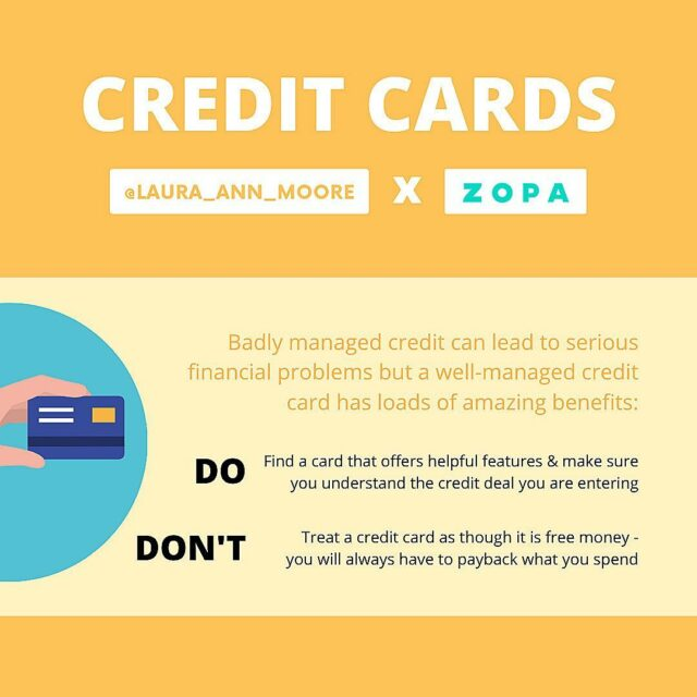 AD  Credit cards - the pros and cons: ⠀⠀⠀⠀⠀⠀⠀⠀⠀ I am working with @zopamoney to bring you content around the pros and cons of credit cards 💳 ⠀⠀⠀⠀⠀⠀⠀⠀⠀ ❌ Badly managed credit can lead to serious financial problems, and in my last post I highlighted HOW to use a credit card responsibly so that you feel confident using a card from the get-go! ⠀⠀⠀⠀⠀⠀⠀⠀⠀ A well-managed credit card has some incredible benefits and can be great for: 💸Credit score building 🔐 Purchase protection 🛍Tracking your spending ⠀⠀⠀⠀⠀⠀⠀⠀⠀ Zopa's new credit card has some really cool and unique features that help keep you in control (Representative APR 34.9%) ⠀⠀⠀⠀⠀⠀⠀⠀⠀ If you are interested in Zopa's credit card, tap the link in their bio to learn more ✨ ⠀⠀⠀⠀⠀⠀⠀⠀⠀ #moneymatters #financialeducation #financialliteracy #moneytips #creditcards #ukfinfluencers #creditscore #creditbuilding #purchaseprotection #moneyblog #moneyblogger #financeblogger #personalfinance