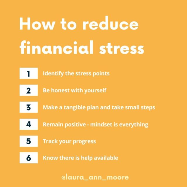 Top tips on how to reduce financial stress⠀⠀⠀⠀⠀⠀⠀⠀⠀ ⠀⠀⠀⠀⠀⠀⠀⠀⠀ This can mean something different to everyone - it is not about how much money you do or don't have, it is all about how you feel about your financial situation⠀⠀⠀⠀⠀⠀⠀⠀⠀ ⠀⠀⠀⠀⠀⠀⠀⠀⠀ Here are my top tips: ⠀⠀⠀⠀⠀⠀⠀⠀⠀ ⠀⠀⠀⠀⠀⠀⠀⠀⠀ 1️⃣ Identify the stress points - what exactly is it making you feel stressed?⠀⠀⠀⠀⠀⠀⠀⠀⠀ ⠀⠀⠀⠀⠀⠀⠀⠀⠀ 2️⃣ Be honest with yourself - is the tress being caused by your own actions, or is it out of your control? ⠀⠀⠀⠀⠀⠀⠀⠀⠀ ⠀⠀⠀⠀⠀⠀⠀⠀⠀ 3️⃣ Make a tangible plan and take small steps - you have to start somewhere, and small daily steps will make up the bigger picture⠀⠀⠀⠀⠀⠀⠀⠀⠀ ⠀⠀⠀⠀⠀⠀⠀⠀⠀ 4️⃣ Remain positive - mindset is everything! It might seem hard in the middle of a pandemic, but general stress-relieving methods e.g. meditation can help⠀⠀⠀⠀⠀⠀⠀⠀⠀ ⠀⠀⠀⠀⠀⠀⠀⠀⠀ 5️⃣ Track your progress - note down all the achievements, no matter how big or small⠀⠀⠀⠀⠀⠀⠀⠀⠀ ⠀⠀⠀⠀⠀⠀⠀⠀⠀ 6️⃣ Know that there is help available - if you need it, there are some incredible charities such as StepChange that can help⠀⠀⠀⠀⠀⠀⠀⠀⠀ ⠀⠀⠀⠀⠀⠀⠀⠀⠀ What do you do to help reduce financial stress?⠀⠀⠀⠀⠀⠀⠀⠀⠀ ⠀⠀⠀⠀⠀⠀⠀⠀⠀ #moneymatters #ukfinfluencers #moneyblog #financialworry #financialstress #financialeducation #financialliteracy #moneyblogger #financialcoach #mentalhealth #stresstips #moneyhelp #moneytips