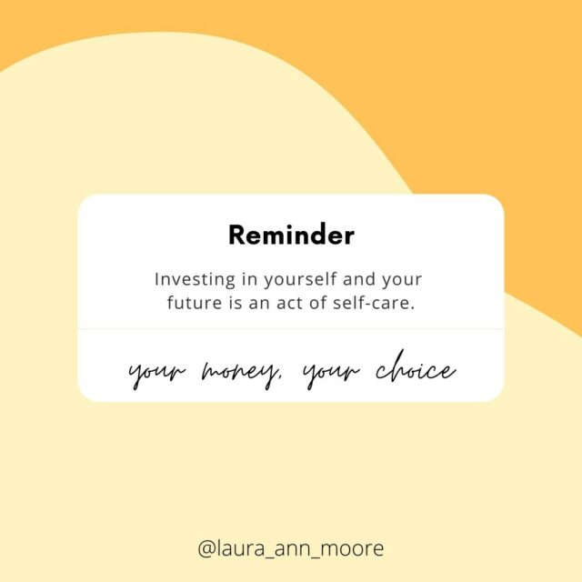Investing in yourself and your future is a form of self-care✨⠀⠀⠀⠀⠀⠀⠀⠀⠀ ⠀⠀⠀⠀⠀⠀⠀⠀⠀ Tomorrow I start a Financial Coaching Training Programme and I'm so excited... it was a big investment and I'd be lying if I said it didn't take me weeks to sign up, but I know it's going to be so worth it😍⠀⠀⠀⠀⠀⠀⠀⠀⠀ ⠀⠀⠀⠀⠀⠀⠀⠀⠀ It got me thinking about all the different ways you can invest to improve your life 🌟⠀⠀⠀⠀⠀⠀⠀⠀⠀ ⠀⠀⠀⠀⠀⠀⠀⠀⠀ ⏰ Your time - you get to choose how you spend your time and you can spend time doing things that make you feel good ☀️ 🏃🏼‍♀️ 🎨 ⠀⠀⠀⠀⠀⠀⠀⠀⠀ ⠀⠀⠀⠀⠀⠀⠀⠀⠀ 🔮 Your future - you can invest in your own personal development e.g. books, online courses, workshops, education etc. 📚 💡 📝 ⠀⠀⠀⠀⠀⠀⠀⠀⠀ ⠀⠀⠀⠀⠀⠀⠀⠀⠀ 💰 Your money - you can invest your money with the expectation that you expect will make you a profit over time such as the stocks, bonds, funds, property, gold, crypto 📈 🏠 💸⠀⠀⠀⠀⠀⠀⠀⠀⠀ ⠀⠀⠀⠀⠀⠀⠀⠀⠀ The way you invest  your time and your money is your choice... what's your fav thing to invest in?⠀⠀⠀⠀⠀⠀⠀⠀⠀ ⠀⠀⠀⠀⠀⠀⠀⠀⠀ #investing #selfcare #moneymatters #moneytips #personalfinance #personaldevelopment #ukfinfluencers #moneyblog #savingmoney #moneyblogger #financialeducation #investtime #invest